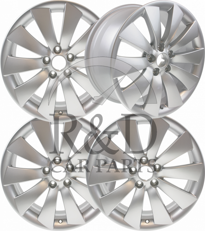 Set Of 4 New 18 Inch Turbine Alloy Wheels Alu90 Saab 9 3ss 9 5 12784444