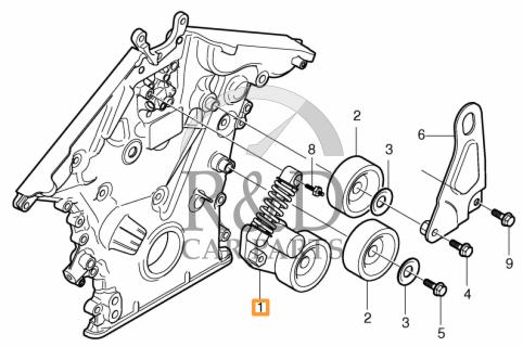 Belt Tensioner B8444s Volvo S80xc90 31216199