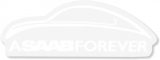 "Saab, All, Accessories, Merchandise, Sticker, ""a, Forever"", Decal, Classic"