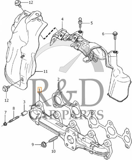 exhaust manifold volvo c30 s40 v40 v50 s60 v60 v70 s80 31293819 Future Volvo S60
