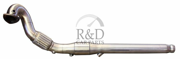 3 Inch Downpipe Stainless with Racecat Straight Flange Volvo  850/V70/S70/C70 Turbo '96-'98