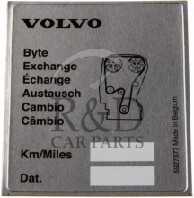 5927377, Volvo, All, Label, Replacing, Timing, Belt