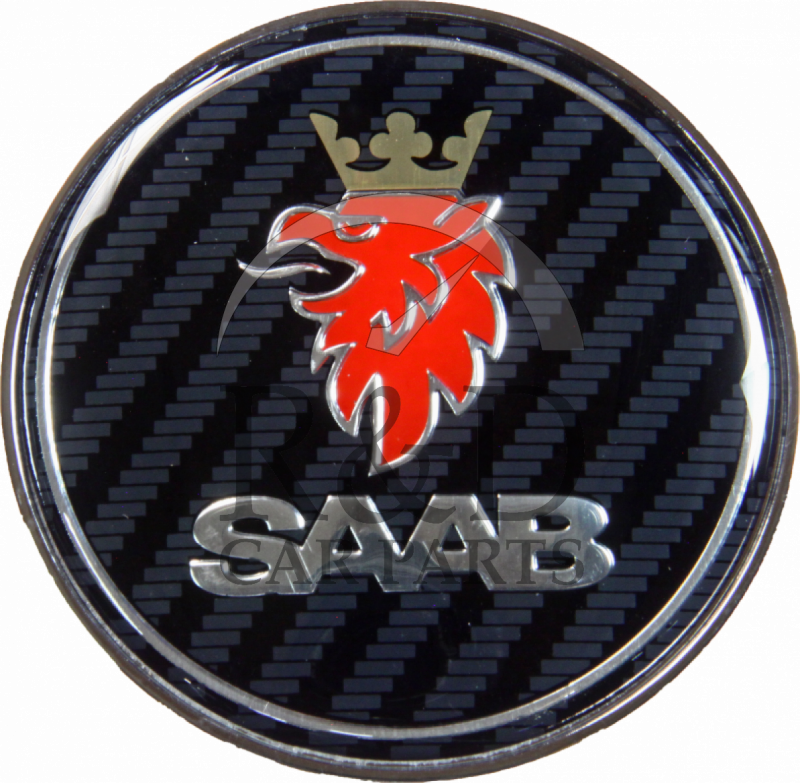 GENUINE SAAB FRONT BONNET EMBLEM BADGE 9-3 /& 9-5 NEW 12844161