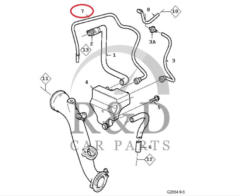 hose crankcase ventilation saab 9 3v1 9 5 b205 b235 5961610 2004 Saab 9 3 Motor Diagram
