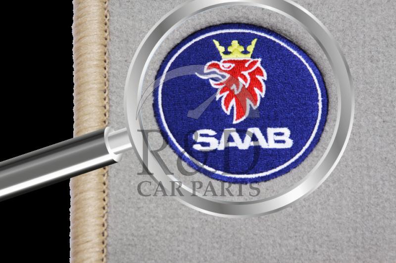 floor mat set beige with  u0026quot saab u0026quot  logo saab 900 classic cv