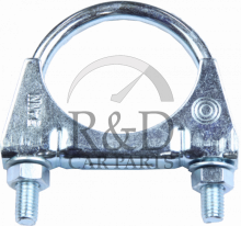 60mm XC70 II 08- V70 III Middle Exhaust Repair Clamp//bracket S80 II