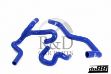 4756672, 4756698, 4756714, 4757126, 5048830, 5048848, Saab, 9-5, Body, Heating, Heater cores, Interior, Ventilation, Radiator, Hose, Kit, Silicone, Blue, 98-10