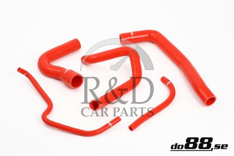 Coolant hoses Silicone Red Saab 9000 Turbo 86-90